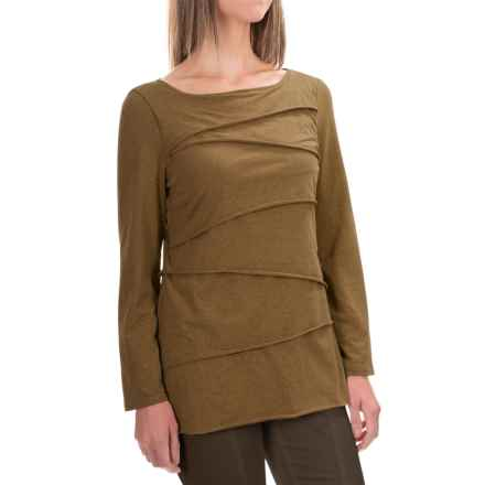 Neon Buddha Inspired Layered Shirt - Long Sleeve (For Women) in Green Heather - Closeouts