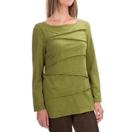 Neon Buddha Inspired Layered Shirt - Long Sleeve (For Women) in Mountain Moss - Closeouts