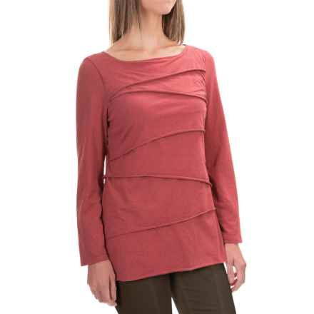 Neon Buddha Inspired Layered Shirt - Long Sleeve (For Women) in Red Heather - Closeouts