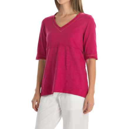 Neon Buddha Joey High-Low T-Shirt - Elbow Sleeve (For Women) in Berry - Closeouts