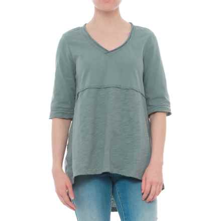 Neon Buddha Joey High-Low T-Shirt - Elbow Sleeve (For Women) in Sweet Sage - Closeouts