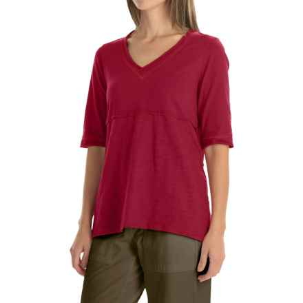 Neon Buddha Joey High-Low T-Shirt - Elbow Sleeve (For Women) in Wine - Closeouts