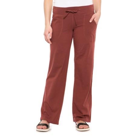 Neon Buddha Johanna Drawstring Pants - Stretch Cotton (For Women) in Bold Spice