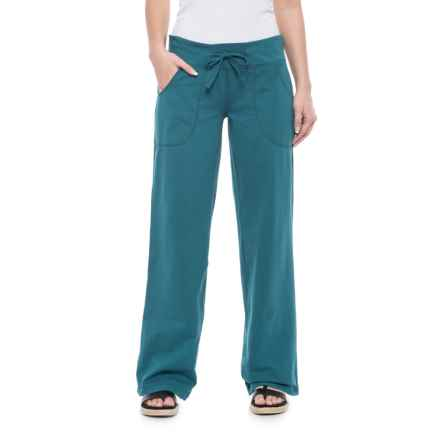 Neon Buddha Johanna Drawstring Pants - Stretch Cotton (For Women) in Luxury Jade - Closeouts