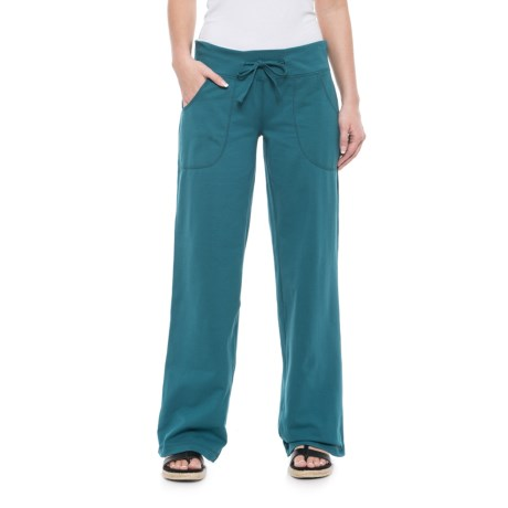 Neon Buddha Johanna Drawstring Pants - Stretch Cotton (For Women) in Luxury Jade