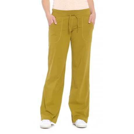 Neon Buddha Johanna Drawstring Pants - Stretch Cotton (For Women) in Rich Moss