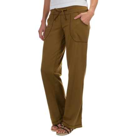 Neon Buddha Johanna Drawstring Pants - Stretch Cotton (For Women) in Tea Leaf - Closeouts