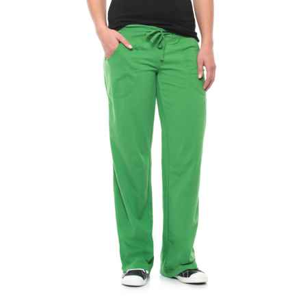 Neon Buddha Johanna Drawstring Pants - Stretch Cotton (For Women) in Travel Green - Closeouts