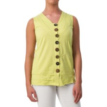Neon Buddha Journey Tank Top - V-Neck (For Women) in Future Lime - Closeouts
