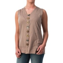 Neon Buddha Journey Tank Top - V-Neck (For Women) in Modern Taupe - Closeouts