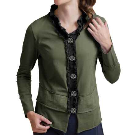 Neon Buddha Laren Shirt - Stretch Cotton, Long Sleeve (For Women) in Crocodile Rock - Closeouts