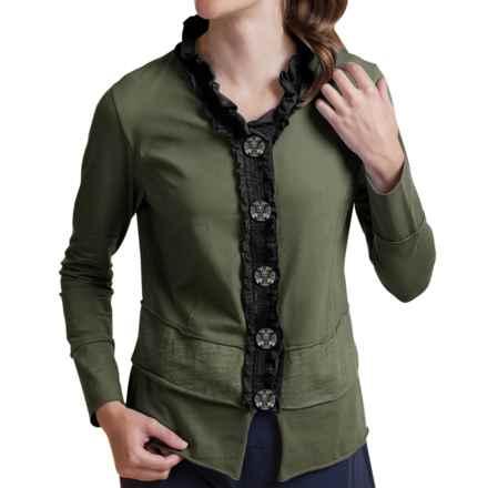 Neon Buddha Laren Shirt - Stretch Cotton, Long Sleeve (For Women) in Crocodile Rock - Closeouts