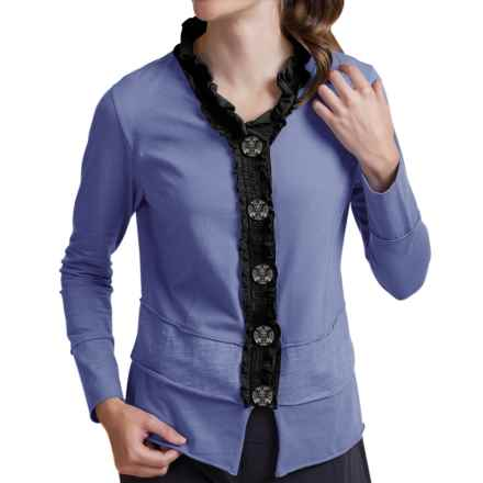 Neon Buddha Laren Shirt - Stretch Cotton, Long Sleeve (For Women) in Denim Blue - Closeouts
