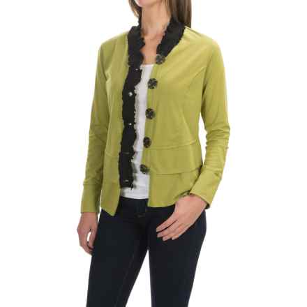Neon Buddha Laren Shirt - Stretch Cotton, Long Sleeve (For Women) in Fernie Lime - Closeouts