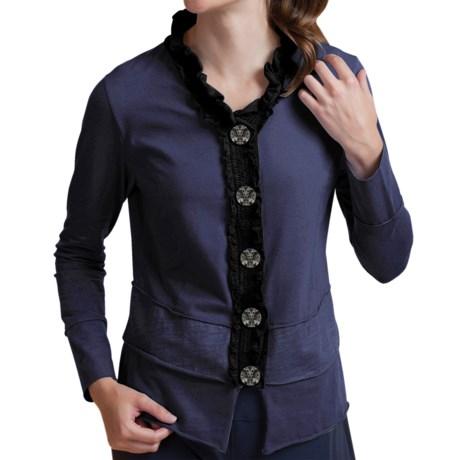 Neon Buddha Laren Shirt - Stretch Cotton, Long Sleeve (For Women) in Navy
