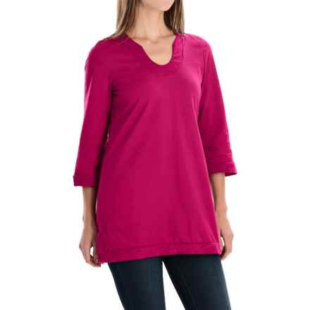 Neon Buddha Liberty Tunic Shirt - Scoop Neck, 3/4 Sleeve (For Women) in Berry - Closeouts