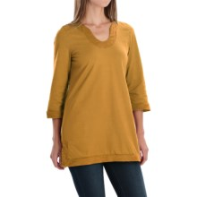 Neon Buddha Liberty Tunic Shirt - Scoop Neck, 3/4 Sleeve (For Women) in Curry - Closeouts