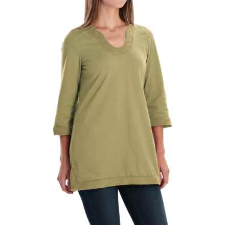 Neon Buddha Liberty Tunic Shirt - Scoop Neck, 3/4 Sleeve (For Women) in Mountain Moss - Closeouts