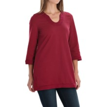 Neon Buddha Liberty Tunic Shirt - Scoop Neck, 3/4 Sleeve (For Women) in Wine - Closeouts