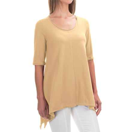 Neon Buddha Lifestyle Tee Tunic Shirt - Scoop Neck, Elbow Sleeve (For Women) in Butter - Closeouts