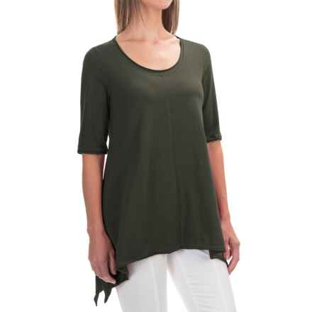 Neon Buddha Lifestyle Tee Tunic Shirt - Scoop Neck, Elbow Sleeve (For Women) in Crocodile Rock - Closeouts
