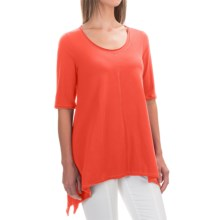 Neon Buddha Lifestyle Tee Tunic Shirt - Scoop Neck, Elbow Sleeve (For Women) in Inspired Red - Closeouts