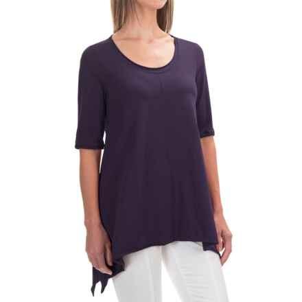 Neon Buddha Lifestyle Tee Tunic Shirt - Scoop Neck, Elbow Sleeve (For Women) in Purple Monaco - Closeouts