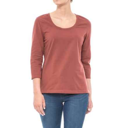 Neon Buddha Lola Stretch Cotton T-Shirt - 3/4 Sleeve (For Women) in Bold Spice - Closeouts