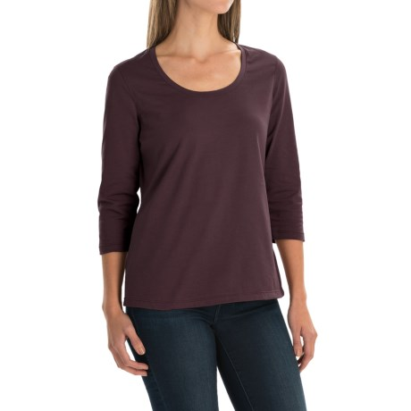 Neon Buddha Lola Stretch Cotton T-Shirt - 3/4 Sleeve (For Women) in Dark Grey