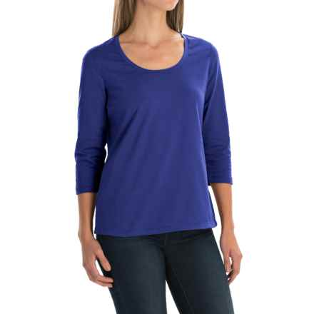 Neon Buddha Lola Stretch Cotton T-Shirt - 3/4 Sleeve (For Women) in Deep Royal - Closeouts