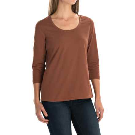 Neon Buddha Lola Stretch Cotton T-Shirt - 3/4 Sleeve (For Women) in Modern Twig - Closeouts