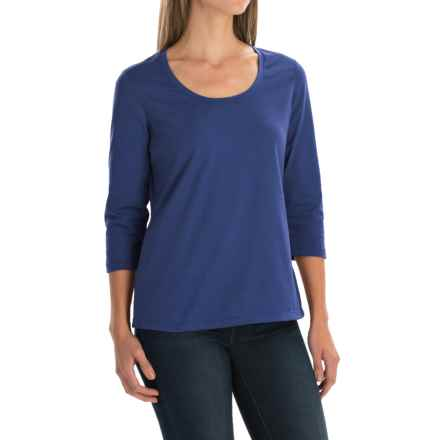 Neon Buddha Lola Stretch Cotton T-Shirt - 3/4 Sleeve (For Women) in Picasso Royal - Closeouts