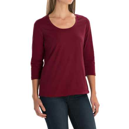 Neon Buddha Lola Stretch Cotton T-Shirt - 3/4 Sleeve (For Women) in Wine - Closeouts