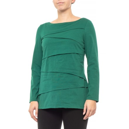 86e05550ed9563 Neon Buddha Luxe Emerald Beijing Layered T-Shirt - Long Sleeve (For Women)