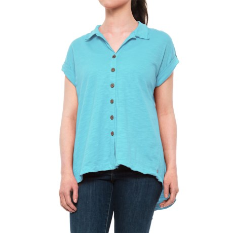 Neon Buddha Maggie Swing Shirt - Short Sleeve (For Women) in Valley Turquoise
