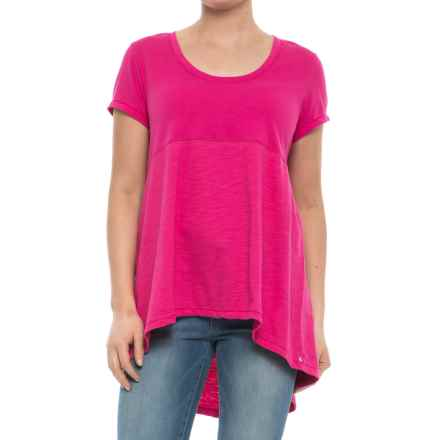 Neon Buddha Memphis T-Shirt - Scoop Neck, Short Sleeve (For Women) in China Cat Pink - Closeouts