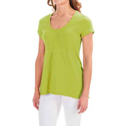 Neon Buddha Memphis T-Shirt - Scoop Neck, Short Sleeve (For Women) in Lightning Lime - Closeouts