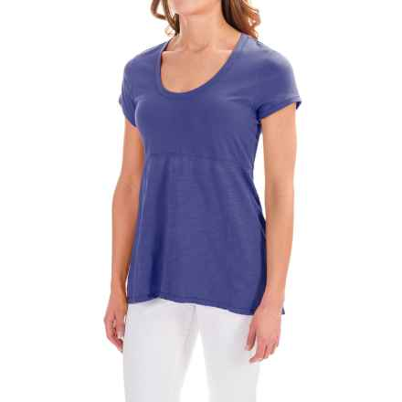 Neon Buddha Memphis T-Shirt - Scoop Neck, Short Sleeve (For Women) in Piscasso Royal - Closeouts