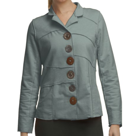 Neon Buddha Merritt Patchwork Jacket - French Terry (For Women) in Recycled Sage