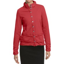 Neon Buddha Miri French Terry Jacket (For Women) in Bold Red - Closeouts