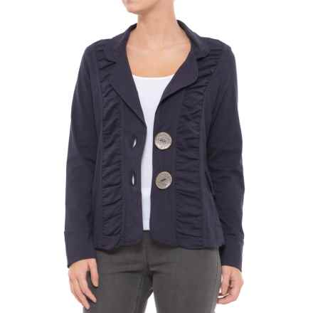 Neon Buddha Morgan Ruched Jacket (For Women) in Explorer Navy - Closeouts