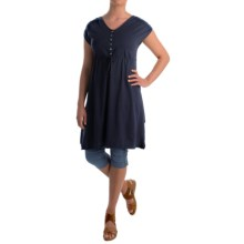 Neon Buddha Morning Rain Dress - Stretch Cotton, Sleeveless (For Women) in Explorer Navy - Closeouts