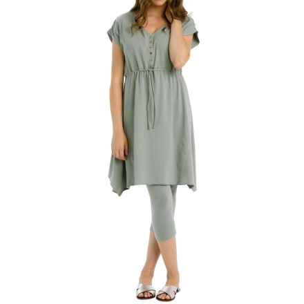 Neon Buddha Morning Rain Dress - Stretch Cotton, Sleeveless (For Women) in Touch Of Grey - Closeouts