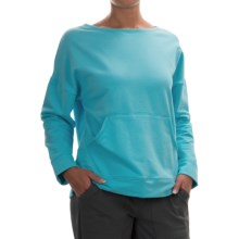 Neon Buddha Morning Sweatshirt - Crew Neck (For Women) in Valley Turquoise - Closeouts