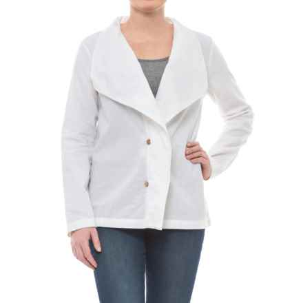 Neon Buddha Napa Jacket - Linen-Rayon (For Women) in Barry White - Closeouts