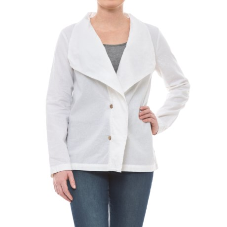 Neon Buddha Napa Jacket - Linen-Rayon (For Women) in Barry White