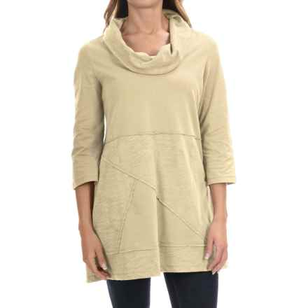 Neon Buddha Neighborhood Tunic Shirt - Cowl Neck, 3/4 Sleeve (For Women) in Butter - Closeouts