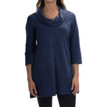 Neon Buddha Neighborhood Tunic Shirt - Cowl Neck, 3/4 Sleeve (For Women) in Ink - Closeouts