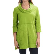 Neon Buddha Neighborhood Tunic Shirt - Cowl Neck, 3/4 Sleeve (For Women) in Lime Surf - Closeouts