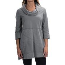Neon Buddha Neighborhood Tunic Shirt - Cowl Neck, 3/4 Sleeve (For Women) in Smoke Grey - Closeouts